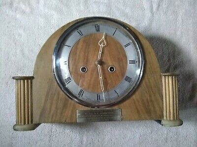 Smith's 8 Day Strike Mantle Clock Rare Light Colour Wood
