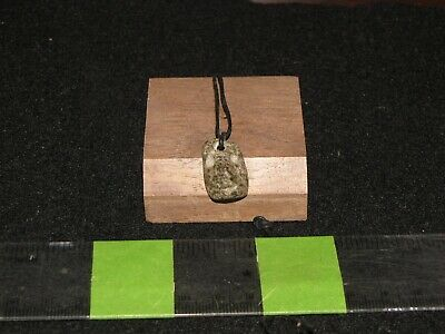 Pre Columbian, Jade, Guerrero Mezcala, Choice Cute Necklace Pendant, 700 200 BC