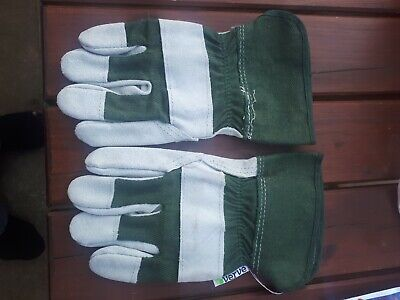 Verve Green White Gardening Gloves Small Rigger  Size  S  Euro 7