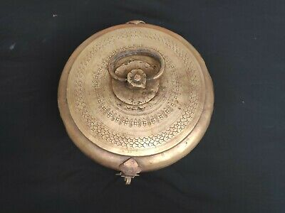 Old Primitive Handcarved Chapati/Bread/Jewellery Box With Latch & Handle