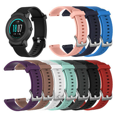 Qu_ ALS_ DV_ Replacement Solid Color Watch Strap Sport Silicone Wristband for Ti