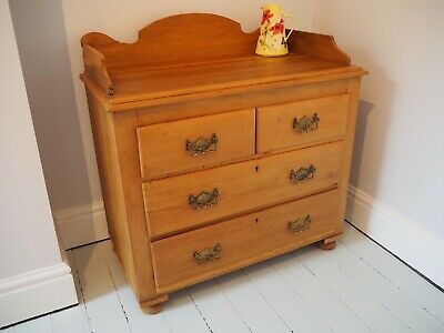 Antique Edwardian satinwood drawers waxed and restored - two over two