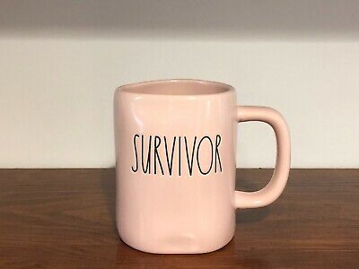Rae Dunn Artisan Collection By Magenta SURVIVOR Matte Pink Mug