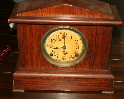 Antique Seth Thomas Mantle Clock Key Wind Bell And Chime. P/R  #890  WORKING