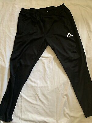 Men's Black ADIDAS Jogging Tracksuit Bottoms Size XL