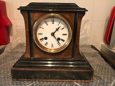 Vintage Antique French Mahogany Wooden clock