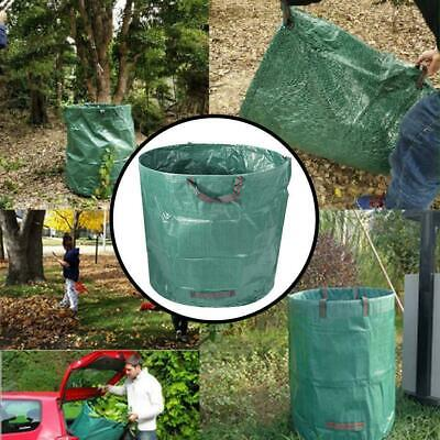 80/132 Gallon Leaves Basket Reinforced Weave Bags Rubbish Garbag Garden