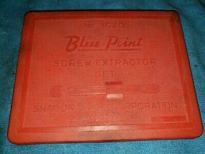 Blue Point 1020 Screw Extractor Set in Case   Made in USA Nice