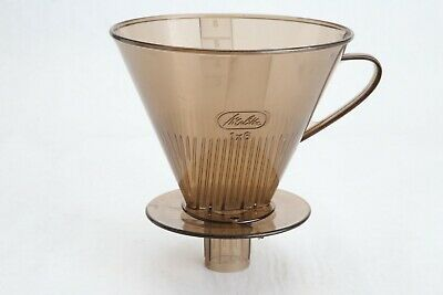 Vintage Melitta Coffee Cone Filter Holder Basket Pour Over Amber Plastic 1X6
