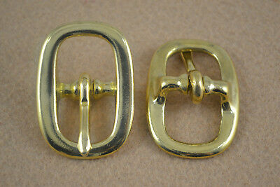 "Halter Buckle - 3/4"" - Solid Brass - Pack of 12 (F297)"