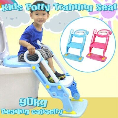 Kids Toilet Seat Ladder Baby Toddler Training Toilet Step Potty Non Slip Trainer