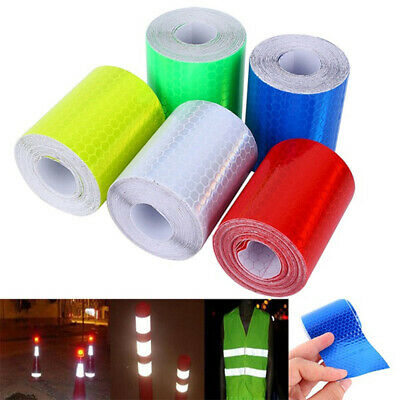 1m*5cm Car Reflective Self-adhesive Safety Warning Tape Roll Film Sticker@V