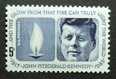 1246 MNH 1964 5c John F. Kennedy Memorial assassinated President Democrat speech