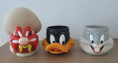 KFC Vintage Looney Tunes Character Mugs Cups Daffy Duck Bugs Bunny Sam