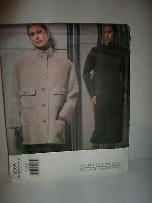 Vogue 2585 Geoffrey Beene Misses Jacket and Dress Size 8-10-12 Uncut FF