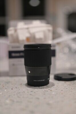 Sigma 16mm 1.4 E Mount DC DN Contemporary Lens for Sony Black - 402965 - MINT