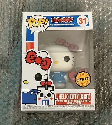Funko Pop Sanrio Hello Kitty (8 Bit) 45th Anniversary Chase Vinyl Mint!