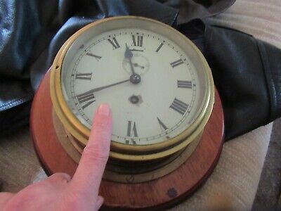 swiss made vintage ships clock with key working