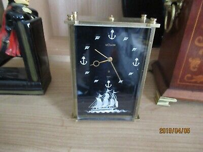 Lovely LE coultre alarm clock plays the swiss rhapsody /maritime theme