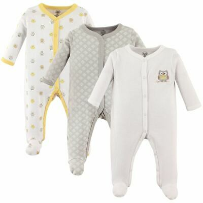 Luvable Friends Boy and Girl Sleep and Play, 3-Pack, Owl