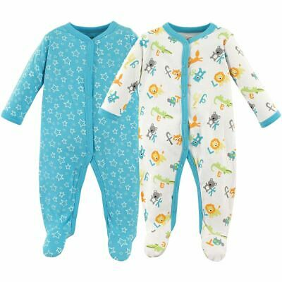 Luvable Friends Boy and Girl Sleep and Play, 2-Pack, ABCs