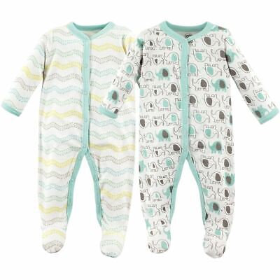 Luvable Friends Boy and Girl Sleep and Play, 2-Pack, Elephants