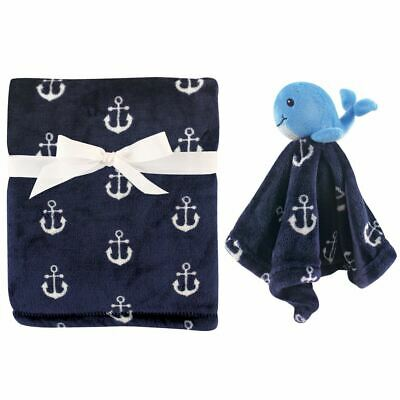Hudson Baby Boy Plush Blanket and Security Blanket, Whale