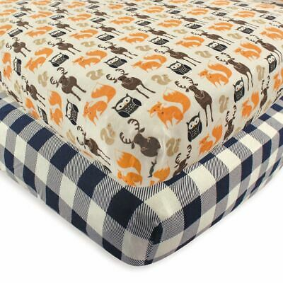 Hudson Baby Boy Fitted Crib Sheet, 2-Pack, Forest