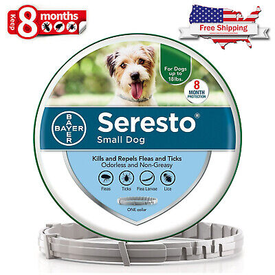 Bayer Seresto Flea & Tick Collar for Small Dog up to 18 lbs, 8 Month Protection