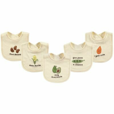 Touched By Nature Boy and Girl Organic Bibs, 5-Pack, Avocado