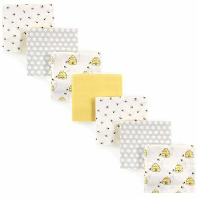Hudson Baby Girl Flannel Receiving Blankets, 7-Pack, Bees