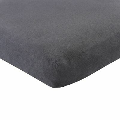 Hudson Baby Boy and Girl Fitted Crib Sheet, Heather Charcoal