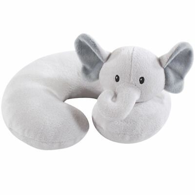Hudson Baby Boy and Girl Travel Neck Support Pillow, Gray Elephant