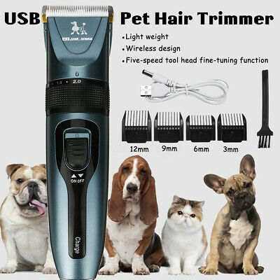 🔥Rechargeable Electric Pet Clipper Dog Cat Hair Trimmer Comb Grooming Clippers