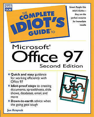 Complete Idiot's Guide To Microsoft Office 97 (The Complete Idiot's Guide), Kray