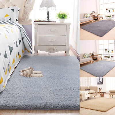 Soft Cosy Shaggy Rugs Fluffy Living Room Area Carpets Bedroom Runners UK Stock