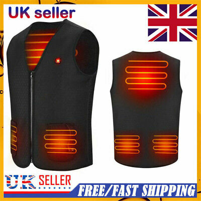Electric Vest Heated Cloth Jacket USB Thermal Warm Heated Pad Body Warmer Winter