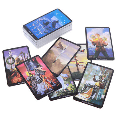 78 Cards Witch Tarot Deck Future Fate Indicator Forecasting Cards Gift TableG TL