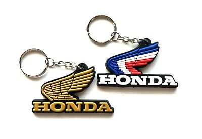 Lot 2 Pcs Keychain Key Ring Rubber Motorcycle Wing classic Honda Gift