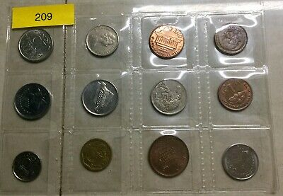 (209) 12 Mixed World Small Coins all different Circulated Ungraded Uncleaned