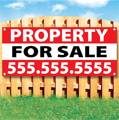 Property For Sale Vinyl Banner Sign Many Sizes Available USA - Customize it!