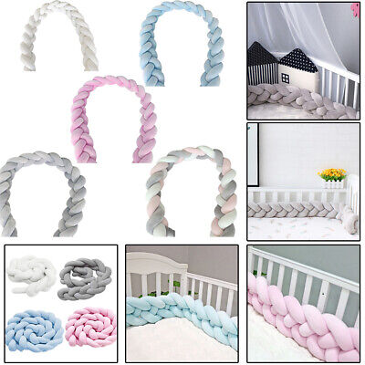 Baby Crib Bumper Knitted Flannel Soft Cot Protected Knit Pillow Nursery Cushion