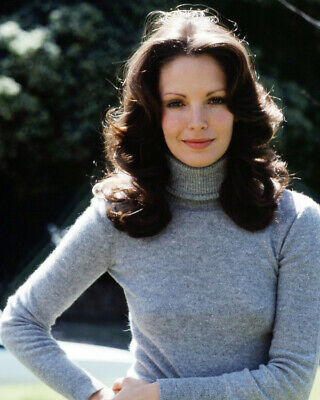 Jaclyn Smith Charlie's Angels 8x10 Photo Beautiful Portrait Grey Polo Neck