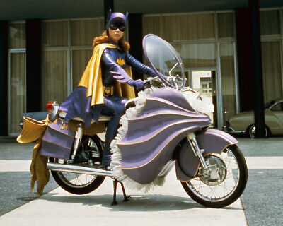 Batman Yvonne Craig as Batgirl seated on her motorcycle in costume 8x10 Photo