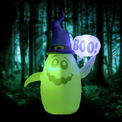 5ft Halloween Ghost Boo Air Blown Inflatable Colorful Lighted for Indoor/Outdoor