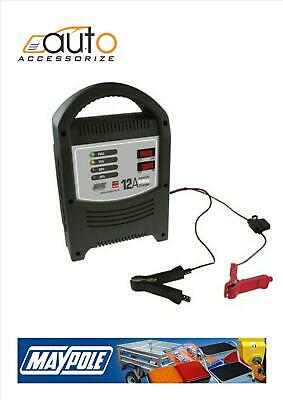 Maypole 12A 12 Amp 6v/12v 2200cc+ Car Van Boat Motorcycle Battery Charger #7112