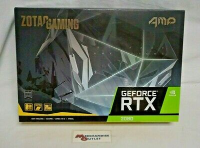 ZOTAC ZT-T20800D-10P NVIDIA GeForce RTX 2080Amp 8GB Gaming Graphics Card