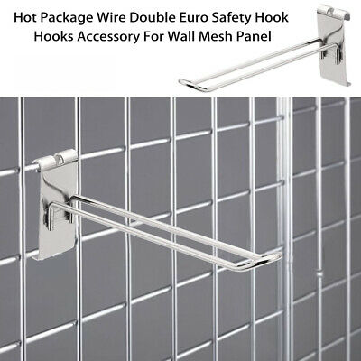 Grid Wall Mesh Euro Prong Hook Arm Shop Gridwall Display Home Accessory Hooks O