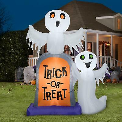 7 Ft Inflatables Ghosts Tombstone Trick or Treat Halloween Yard Outdoor Decor