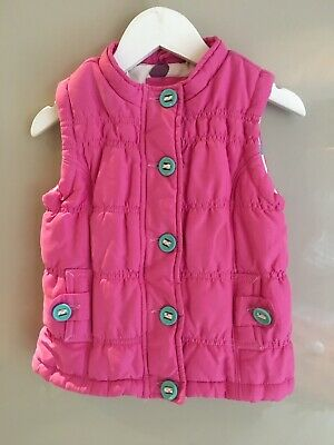Girls John Lewis Gilet Age 5 Years Padded Hot Pink Quilted Waterproof Turquoise
